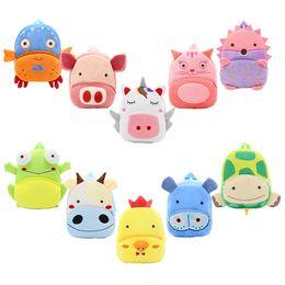 mochilas de panda Rebajas Baby Plush Cartton Mochilas Niñas Niños Niños Diseñador Hombros Unicorn Piggy Kitten Turtle Panda Kindergarten Mochila Bolsas 2-4T