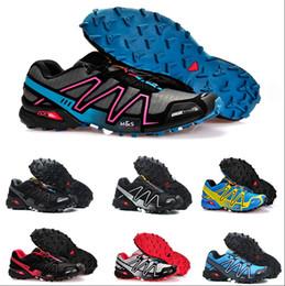 Salomon Speed Cross 3 CS Лучшие продажи Соломон Speedcross 3 CS Кроссовки для мужчин Легкие кроссовки Navy Solomons III Zapatos Водонепроницаемая обувь для мужчин от