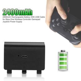 xbox ein wiederaufladbar Rabatt 2400mAh Spiel Akku für Xbox One Wireless Controller Gamepad Joystick Netzteil mit LED-Anzeige USB-Kabel