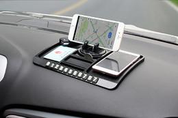 Wholesale Mobile Ornaments - Car Ornament PVC 360 Degree Adjustable Mobile Phone Holder Anti Slip Mat Automobiles Dashboard Non Slip Pad For GPS Navigation
