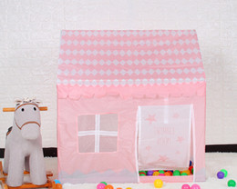 Enfants Plage Tente Fille Belle Rose Jouer Jeu Maison Ocean Ball Tente Princesse Château Intérieur En Plein Air Jouets Tentes 100 * 70 * 110cm ? partir de fabricateur