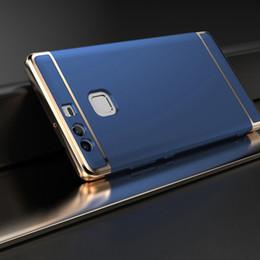 Capa de telefone 3in1 on-line-3in1 chapeamento phone case para huawei p9 p8 lite 2017 case matte pc hard back casos de cobertura total para huawei p10 p20 lite p9 p10 p20 além de shell