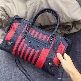 Wholesale Handbag City - Famous brand Punk rock designer bag 2018 new together Classic City motorcycle SHEEPSKIN genuine leather handbags fashion luxury brand bags