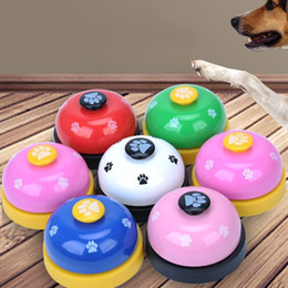 Wholesale Dog Wears - Multi Colors Pet Bells Durable Cute Paw Prints Pattern Dog Cat Call Bell Wear Resistant Puppy Training Supplies 3 95nj B