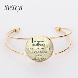 Wholesale inspiration white - whole saleSUTEYI fashion for friend christian jewelry glass dome bracelets inspiration quote pendant letter bangle charm bracelet