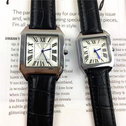 Argentina 2018 venta caliente relojes de moda para hombre / mujeres reloj de cuero de plata / rosa rosa oro negro pulsera relojes de pulsera marca reloj femenino envío gratis cheap silver rose leather bracelet Suministro