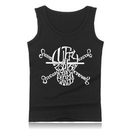 Wholesale Anime One Piece Ace - Wholesale- Anime One Piece Luffy and Ace Tank Top Mens Hip Hop Building Sleeveless Shirt in Plus Size Clothing and Summer Vest