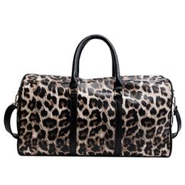 Leopard Duffle Bag Blancs en gros Feutre Sentir Guépard Weekender Sac Polyester PU Sac En Cuir ? partir de fabricateur