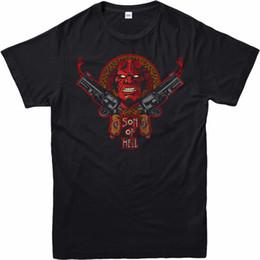 crianças frescas Desconto Hellboy T-shirt Fantasia Ação Filho Do Inferno Hell Boy Adulto E Crianças Tamanhos Design Fresco Verão Boa Qualidade