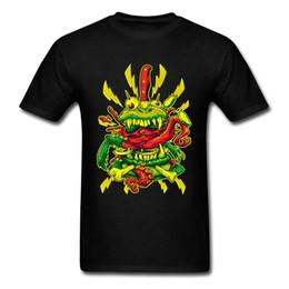 Canada 2018 Vente Pas Cher Imprimé Demon Burger Tops T Shirt Dernière Conception Hommes Robe T-Shirt Cartoon O Cou Tshirt supplier animal print cheap dresses Offre