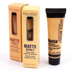 luces solares rosa Rebajas Envío gratis más nuevo maquillaje caliente MISS ROSE Liquid Foundation Faced Corrector marcador resaltador Feria / Luz contorno Corrector Base de maquillaje