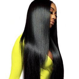 Бразильские прямые парики фронта шнурка человеческих волос для женщин предварительно выщипанная линия волос с волосами младенца Бразильские прямые парики полного шнурка человеческих волос парик от