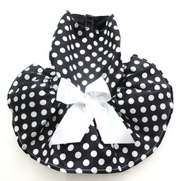 Wholesale Princess Dog Costumes - Polka Dots Dog Pet Princess Dress Skirt With Big Bow Design Cat Puppy Dresses Outfit Dinner Party