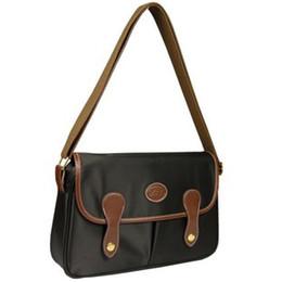 Borse a marchio a buon mercato online-sacchetti di nylon impermeabile sacchetto di spalla poco costoso del messaggero delle donne di marca della Francia delle donne di vendita caffè scuro borse di modo libera il trasporto Corpo Croce