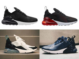 Wholesale Knitted Cross - 2018 NEW Knit flyair 270 27c men and women speed cross outdoor Training Running sneakers AIR270 runer shoes 36-45