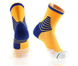 2019 meias para caminhadas no verão Meias esportivas de basquete ao ar livre dos homens absorção de suor digital e esportes de lazer engrossado com terry não-deslizamento respirável meias