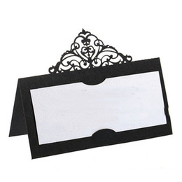 Cartões de nome do lugar do banquete de casamento do serviço de Cutom disponíveis / utensílios de mesa personalizados / decoração do cartão do assento Cores Escolhidos Estilos de Fornecedores de fada convites