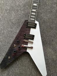 2019 белая гитара v Customed гитара конструкции летая V светотеневые китайские электрические гитары с оборудованием Крома все подгонянное предложение цвета дешево белая гитара v