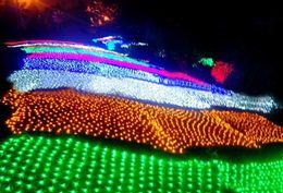 2019 luci nette per alberi 6 * 4m 750 LED Tree Mesh Casa del Soffitto Parete Fata String Net Light Scintillio Lampada Ghirlanda Per Festival Di Natale Decorazione di Festa LLFA luci nette per alberi economici