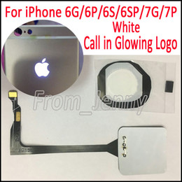 Wholesale Iphone Glowing Logo - White Call In Glowing Logo for iPhone 6 6S 6Plus 6SPlus 7G 7Plus Incoming Call Light Up Shine Glowing Logo Mod