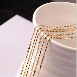 Wholesale Christmas State - Fashion short clavicle chain plating 18K gold 2mm flat chain Europe and the United States trade jewelry necklace