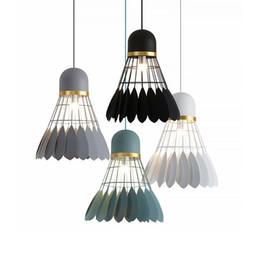 Lampadario di Badminton Moderna E Minimalista E27 lampada a sospensione Sala da pranzo Lampada Personalità Creativa Bar Studio lampada da letto (lampadine incluse) da