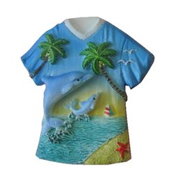 Wholesale Old Shapes - Saipan Dolphin Coconut Shirt Hand-Painted Aromatherapy 3D Fridge Magnets U.S Travel Souvenirs Refrigerator Magnetic Stickers
