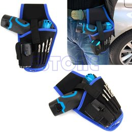 Wholesale Tools For Drilling - Portable drill Holder Holst Pouch Cordless Tool For 12v Drill Waist Tool Bag