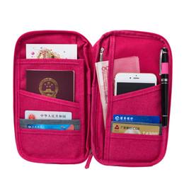 Sacos das chaves do suporte do passaporte da carteira do curso da cor sólida, suportes multifuncionais do carro da carteira do organizador do original da grande capacidade de