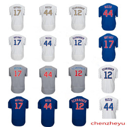 Wholesale Cheap Jerseys Free Shipping - Cheap men's 2017 Champions gold Chicago jersey 17 Kris Bryant jerseys 44 Anthony Rizzo 12 Kyle Schwarber Baseball Jerseys Free Shipping