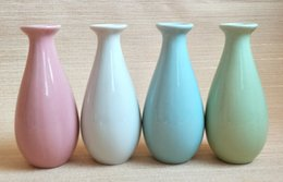 Vasi in ceramica bottiglia aromaterapia artigianato vaso fiore creativo europeo boutique specials decorazione della casa gioielli mini tromba cheap ceramic bottles da bottiglie in ceramica fornitori