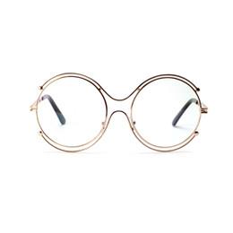 Wholesale Large Metal Circle - 2018 Limited Promotion Solid Alloy Unisex Eyeglasses Multi-circle Large Circular Metal Flat Mirror Female Fashion Glasses Male.