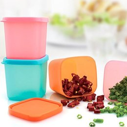 Wholesale plastic kitchen containers - Tea Bean Food Container Keep Fresh Plastic Storage Box For Kitchen Fridge Seasoning Cans With Seal Lid ZA6193