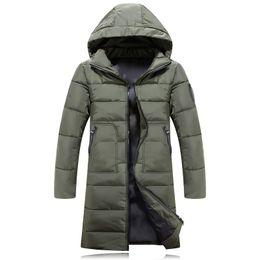 Wholesale Korea Men Coat Styles - 2018 New Winter Mens Parkas Long Thicken Men Cotton Padded Coat Korea Style Warm Parka Jacket Armygreen Black Blue Plus Size 3XL