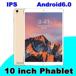 Wholesale Core Tablets - 10.1-inch tablet PC IPS Android 6.0 3G MTK6592 quad-core 1MB+16GB 128G memory can be inserted.