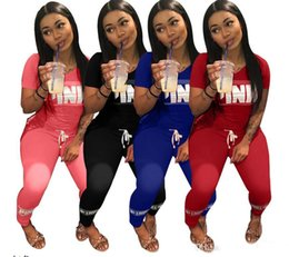 Wholesale new style women s tracksuit - free shipping new of new style fashionable brand PINK women's Tracksuits printed pure color v-neck shirt and trousers.