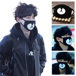 Canada Coton bouche visage masque unisexe style coréen kpop ours noir cyclisme anti-poussière coton bouche masque facial couverture de protection 1 PCS Offre