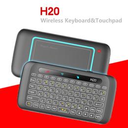 2019 pavé tactile pour ordinateur portable H20 Clavier Sans Fil Rétro-Éclairage Plein Écran Touchpad De Poche Télécommande Mini 2.4G Fly Air Souris Pour Ordinateur Portable X96 Mini Android TV Box