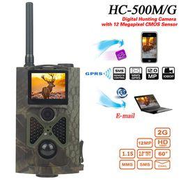 Wholesale Hunt Cameras - HC500M Hunting Camera 2G GPRS MMS 16MP 1080P 120 Degrees PIR 940NM Infrared Wildlife Trail Cameras