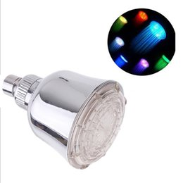Wholesale Plastic Change Holder - Bathroom LED Shower Heads Luxury Rain Rectangular Top Spray Shower Heads multicolor Color Changing Design for Sale LD8010-A3
