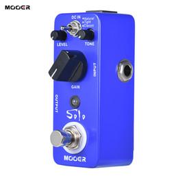 Wholesale Mooer Guitar Effects - MOOER SOLO Distortion Guitar Effect Pedal High-gain True Bypass Full Metal Shell