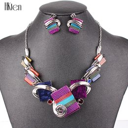 Уникальные фиолетовые подарки онлайн-MS20676 Fashion Jewelry Sets Silver Plated Purple/Leopard/Blue/Gray Colors Unique Design Party Gifts High Quality Free Shipping