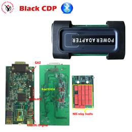 Cdp pro bluetooth online-Novità 2016.0 !! VD TCS CDP PRO Black CDP con vero strumento diagnostico Chip Bluetooth OBDII 9241A di CarsTrucks