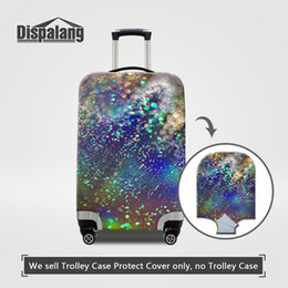 Wholesale Protective Covers For Luggage - Luggage Protective Covers For 18 To 30 Inch Trolley Suitcase Universe Space Nebula Printing Men Elastic Dust Rain Bags Case Waterproof Cover