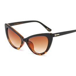 Hot Fashion Brand Designer Cat Eye Women Sunglasses Female Gradient Points  Sun Glasses Big Oculos feminino de sol TF 180204 87e749527a