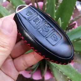 chave chave subaru Desconto couro caso cobrir Key Fob 4B para Nissan Altima Maxima Murano Armada GT-R Sentra