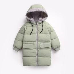 Costumi bellissimi delle ragazze online-Piumino per bambini lungo bambino ragazzo inverno coulisse cappotto ragazza caramella colore bellissimo costume