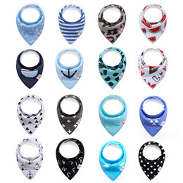Wholesale baby triangle - Baby Bibs 288 Designs Burp Cloths Waterproof Triangle Bibs Newborn Cartoon Print Baby Bibs Baby Girls Boys Bandana Infant Saliva Cloth INS