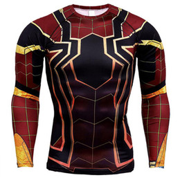 Panther kleidung online-Black Panther Spiderman 3D Gedruckt T shirts Männer Compression Shirts Charakter Comics Tops Für Männer Iron Man Cosplay Kostüm Kleidung