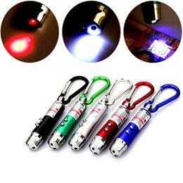 Cadenas de dinero online-Nueva llegada multifuncional Mini 3 in1 LED Laser Light Pointer llavero linternas Mini antorcha linterna Detector de luz